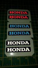 """*** Honda"""""""" 3D abovedado Insignia Pegatina Reflectante Gráfico Calcomanía Moto *** x2"""