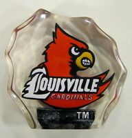 Louisville University Cardinals Lucite Paper Weight by Collectors Guild