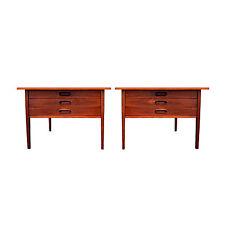 Mid Century Danish Modern Pair Oversized End Side Tables Arne Vodder Jens Risom