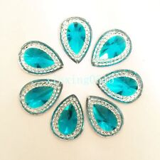 20pcs 13mm*18mm drop Resin Flat back Rhinestone Wedding decoration diy buttons