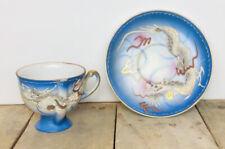 Asian Dragon Mini Tea Cup & Saucer Set White Dragon Dragonware