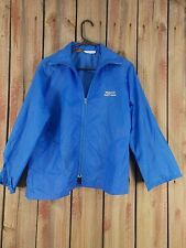 Wildwood Golf Course Windbreaker Jacket Izod Blue Nylon Women's Size Medium