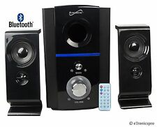 SUPERSONIC SC-1126 2.1 BLUETOOTH MULTIMEDIA SPEAKER SYSTEM w/ USB SD & REMOTE