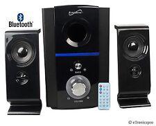 BLUETOOTH 2.1 CH DESK SPEAKER SYSTEM w/ USB SD CARD SLOT & REMOTE iPHONE GALAXY