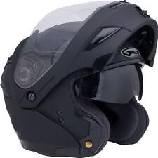 SMALL GMAX GM54s FLAT BLACK MODULAR  Helmet LED Motorcycle steert