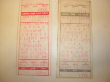 LESLIE WEST TICKET STUB LOT OF 2 1975 11-30-1975 MOUNTAIN SPIRIT