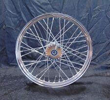 """21"""" x 2.15"""" Narrow Chrome Spool Wheel for Springer Girder Chopper Bobber Harley"""