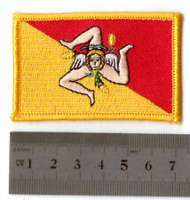 FLAG PATCH SICILY ITALIA ITALY IRON ON NEW EMBROIDERED