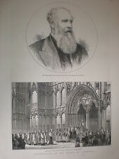 Consecration 1st Anglican Bishop of Liverpool John Charles Ryle 1880 old prints
