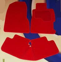 HONDA CIVIC & TYPE R (EP3) 2000-2006 3 DOOR BRIGHT RED CAR FLOOR MATS + 2 CLIPS