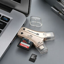 For Android iPhone 4in1 USB i-Flash Drive Micro SD/TF Memory Card Reader Adapter