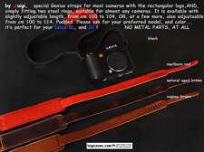 LUIGI GENIUS WIDE STRAP SCARLETT RED,OTHER,4 LEICA SL 601,S2,RECTANGULAR LUGS ..
