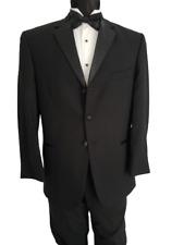 Men's Cheap Black Wool Tuxedo Coat Satin Lapel Nice D.J. TUXXMAN Closeout Sale