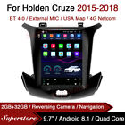 """9.7"""" Tesla Style Android Car Stereo GPS For Holden Chevrolet Cruze 2015-2018"""