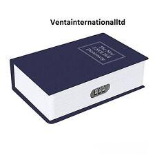 New 3 Digit Combination metal Book Safe Box hidden security 180 x 115 x 55mm