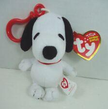 Ty Beanie Babies Snoopy Plush Dog Key Clip NWT