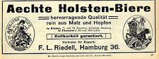 Aechte Holsten-Biere F.L.Riedell Hamburg Esporteur Ad 1912