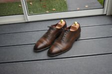 Fratelli Borgioli, brown oxford shoes, size 8, RRP 590 e, patina, made in Italy