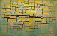 Mondrian-Tableau No. 2 Ed. 300 ud Firma impresa. Num. a lapiz. Certif. Edicion