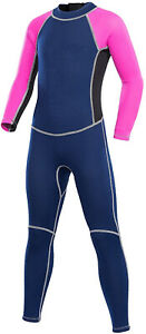 Kids Wetsuit, 2.5mm Neoprene Thermal Swimsuit, Full Wetsuit (Pink,Size:6)