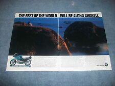 """1993 BMW R110RS vintage 2pg AD """"The Rest of the World Will Be Along Shortly"""""""