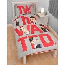 SINGLE BED SET BEDDING THE WANTED FOREVER DUVET COVER QUILT COVER SET RED