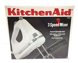 KitchenAid 3 Speed Ultra Power Hand Mixer KHM3WH2 - White BRAND NEW
