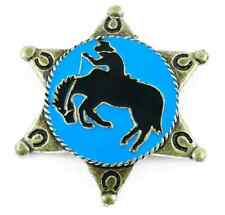Ele pin prendedor sheriff estrella cowboy rodeo country salvaje oeste 02