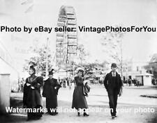 Old/Antique/Vintage 1893 Chicago World's Fair Ferris Wheel Jackson Park Photo