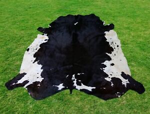 Large Cowhide Rug -Animal Skin Rug Skin Rug  Leather Rug 6.2 x 6.4 ft