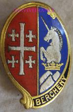 IN13650 - INSIGNE 1° Régiment de Hussards Parachutistes, BERCHENY, émail