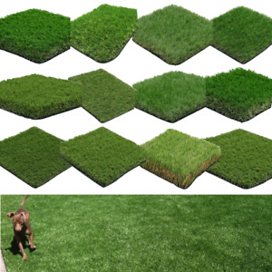 Artificial Grass Cheap Samples 7mm - 40mm Thick Realistic Fake Lawn Astro Turf