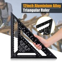 7/12 Inch Metric Triangular Measuring Ruler Quick Read Protractor Angle Ruler