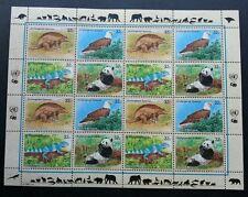 United Nation Endangered Species 1995 Panda Eagle Prey Exotic (sheetlet) MNH