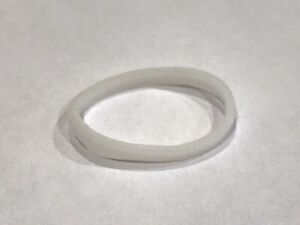 LEGO SMALL ELASTIC RUBBER BAND / BELT WHITE Approx 2 x 2 - BRAND NEW