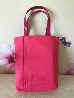 """Lancome Pink Fabric Tote Bag - 15 1/4"""" W x 15 1/2"""" T x 4"""" Wide Base - New"""