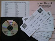 50 Cards,Pub/Club/Charity Singo Bingo 4 Uses 70's & 80's Disco Music Vol 1.set1