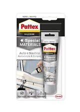 AUTO E NAUTICA PATTEX 50 ml silicone nero elastico per vetri guarnizioni fanali