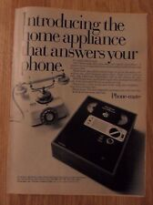 1973 Print Ad Phone-Mate Telephone Answering Machine ~ Phone Message Recorder