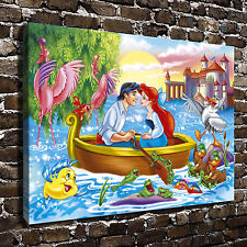 Disney The little mermaid HD Canvas Print Home Decor Paintings Wall Art Pictures