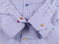KL547 ETON unique multicolored buttons slim fit shirt size 16-41, hardly worn!