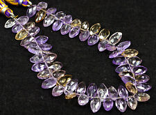 """PH-018 Ametrine Marquise AAA+ Faceted Cut Gems Beads 5.5x10mm-6x11mm 98Ct 8.5"""""""