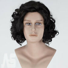 Hot Game of Thrones Jon Snow Black Short Curly Wig Synthetic Cosplay Anime Wigs