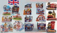 5 X I Love London England Souvenir 3D Ceramic Fridge Magnet UK GB British Gifts