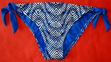 New & Tagged M&S ADJUSTABLE SIDES HIPSTER BIKINI BOTTOMS Blue Print Size 16