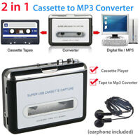 Portable USB Cassette Tape-To-MP3 Converter Capture HiFi Audio Music Player FD