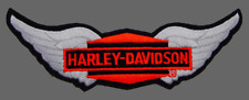 HARLEY DAVIDSON DIAMOND WING SILVER 12 INCH RETRO JACKET VEST PATCH