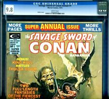 Savage Sword of Conan Annual #1 CGC GRADED 9.8 - second highest - white pages