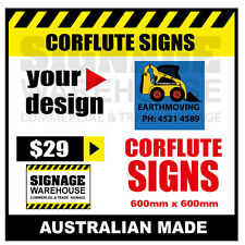 Custom Corflute Sign - Corflute 600mm x 600mm - by Signage Warehouse