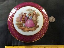 6 Inch Across Limoges Dresser Covered Round Container - Pink